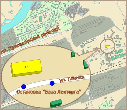 Схема проезда: Остановка автобусов: 56а, 59, 70, 93, 96, 159.